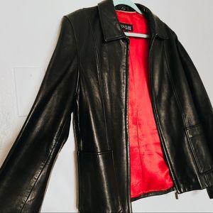 vegan black leather jacket